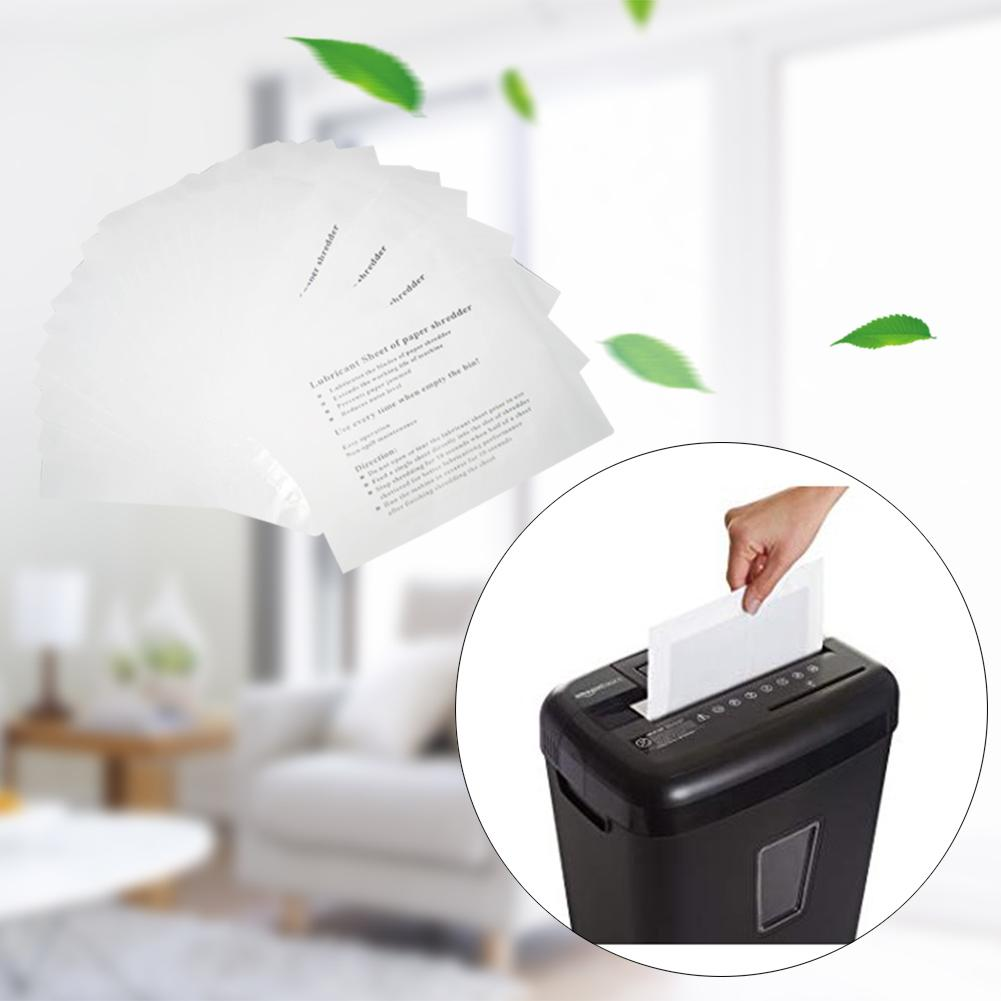 12PCS Pack Paper Shredder Sharpening Lubricant Oil Shredder Lubricating Sheets Oil For Computer Office Use Accessories