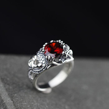 2019 Anel Feminino S925 Sterling Jewelry Hand Ornament Thailand Cut Pomegranate Ring Manufacturer Direct Sales Cross-border