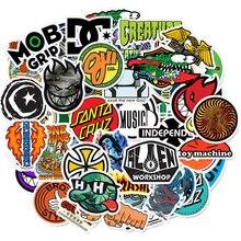 10/30/50pcs Cool Marque Logo Autocollants Planche À Roulettes Étanche Guitare Livre Bagagerie Moto Autocollant Graffiti Fille Enfant Enfants Jouet