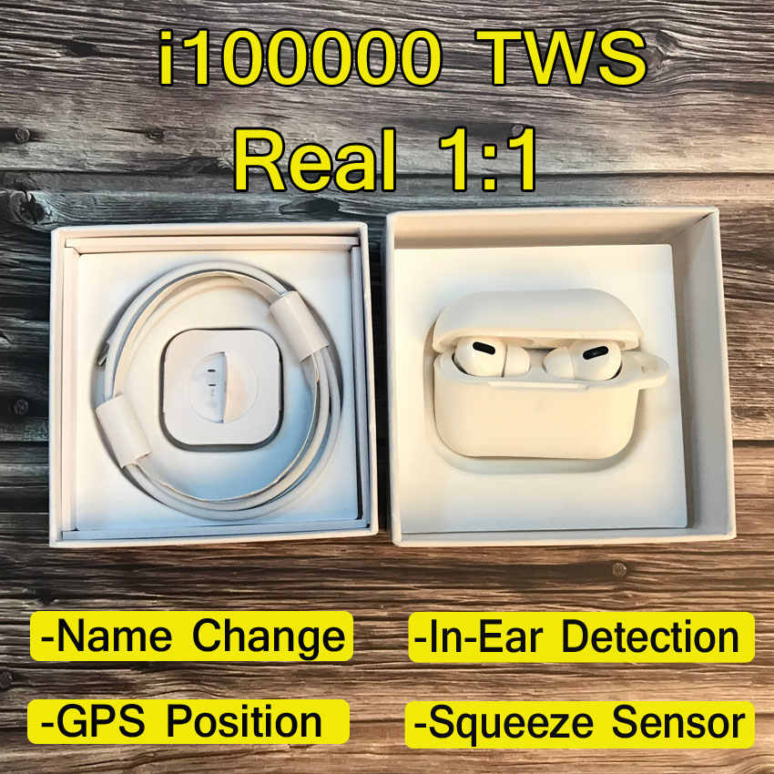 Neue Original TWS i100000 1:1 Air Pro 3 Wireless Bluetooth Kopfhörer Headset Aire 3 Touch Umbenennen GPS Ohrhörer für iPhone PK i900000