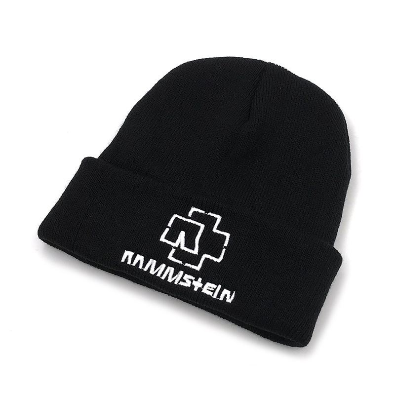 Winter Men Rammstein Band Beanies Embriodery Warm Skullies Knitted Hat Skiing Bonnet Cap For Girls Boy