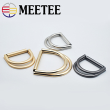 4pcs Meetee 35/50mm Metal Belt Buckles Double D Ring Adjustment Buckle for Coat Shoes Bags Clothing Hardware Sewing Accessories