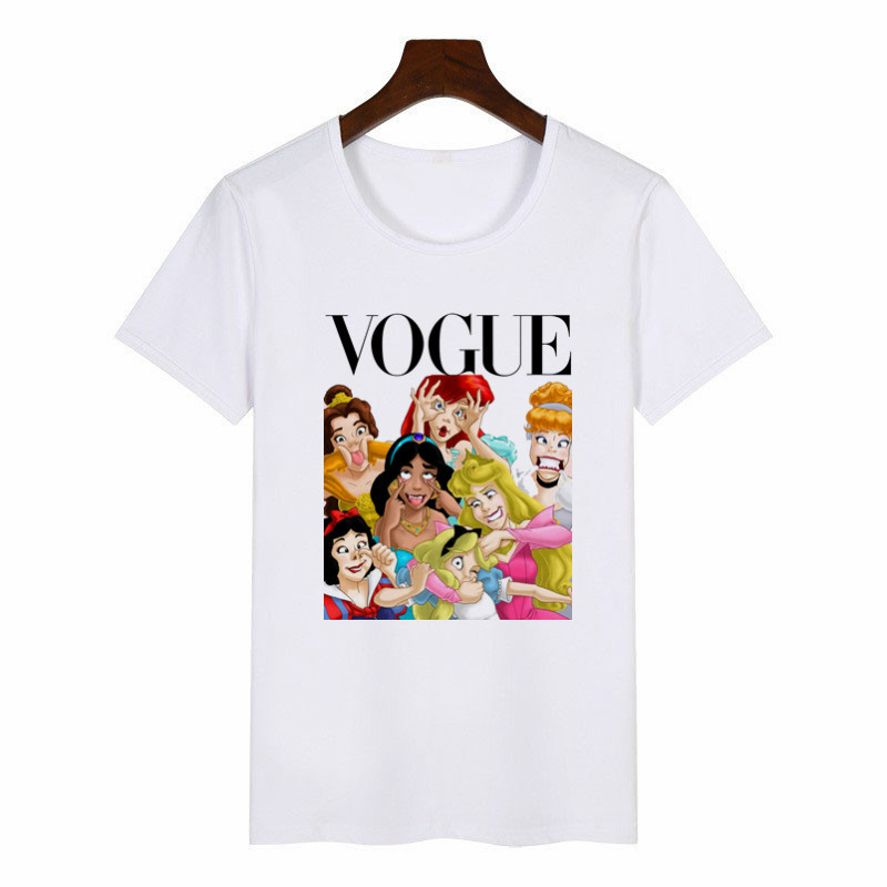 Kids Summer Graphic Tee Shirt Girls Funny Princess Vogue Harajuku T Shirt Korean Tops Kawaii Streetwear Camiseta Mujer,bal539