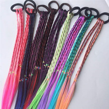 1 шт. цветные парики конский хвост новые аксессуары для волос для девочек повязки на голову резинки красивые ленты для волос Детские головные уборы 9 цветов