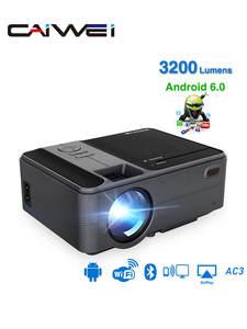 CAIWEI Мини проектор C180AB 1280x720P Android 6,0 wifi проектор Портативный светодиодный проектор для 4K видео 3D домашнего кинотеатра с подарком