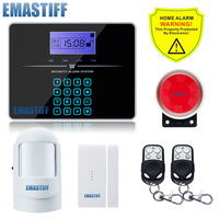 promote Touch  G3B English Russian LCD Wireless 433MHZ SMS GSM Home automation kit Burglar Security Detector Sensor Alarm System