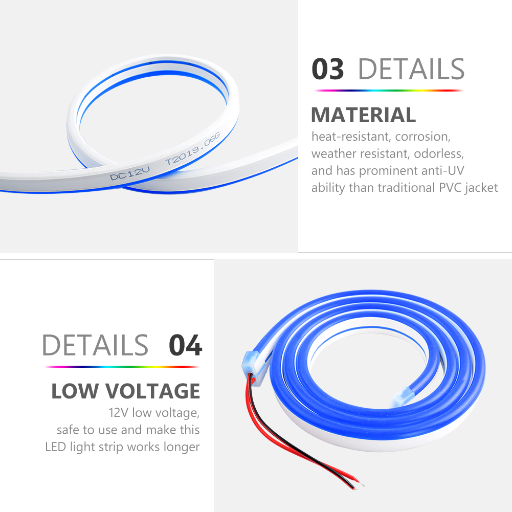 H34bcc6f7fef849578564987d48c97cd1G 6mm Narrow Neon light 12V LED Strip SMD 2835 120LEDs/M Flexible Rope Tube Waterproof for DIY Christmas Holiday Decoration Light