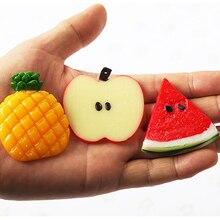 Искусственные мини-искусственные кусочки яблока, искусственные фрукты, модель, наклейка на стену, для дома, вечерние, для кухни, свадебные цветы, Декор, сделай сам, ремесло