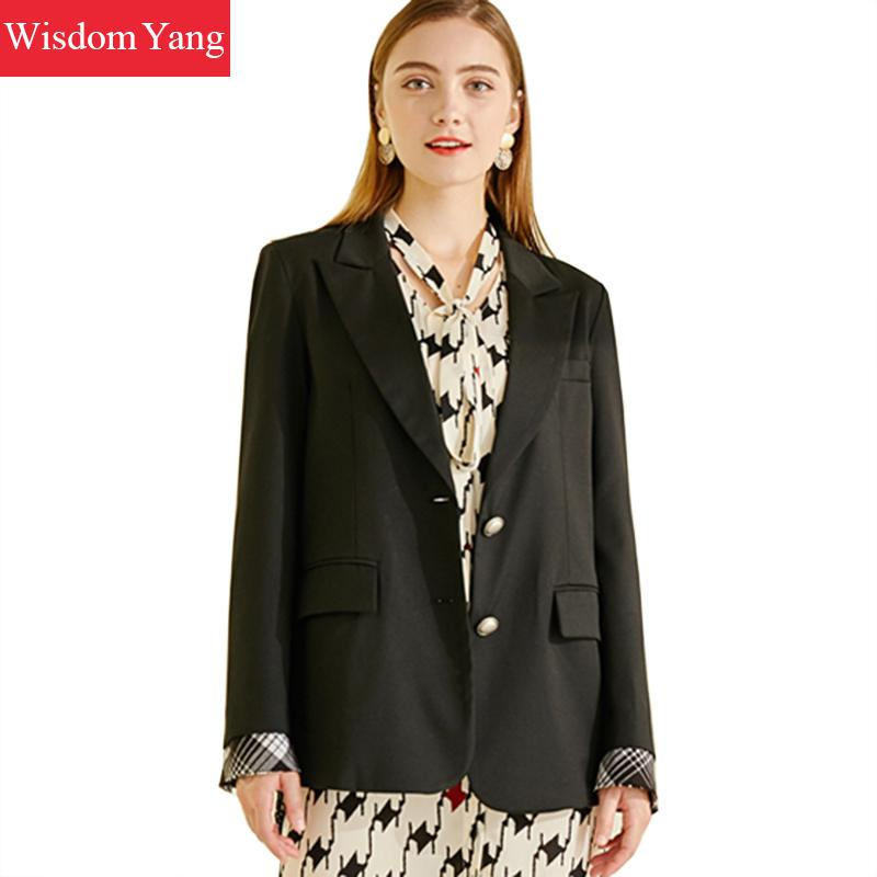 Autumn Suits Jackets Womens Coats Black Korean Ol Female Business Coats Slim Elegant Jackets Office Ladies Outerwear Overcoat