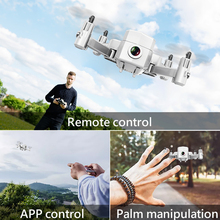 Foldable Mini Drone with HD Camera Remote Control Quadcopter Helicopter RC Quadrocopter for Kids Children's Toy Gift a806 four axle flying rc drone standard mini remote control toy quadcopter helicopter one button take off landing gift for kids