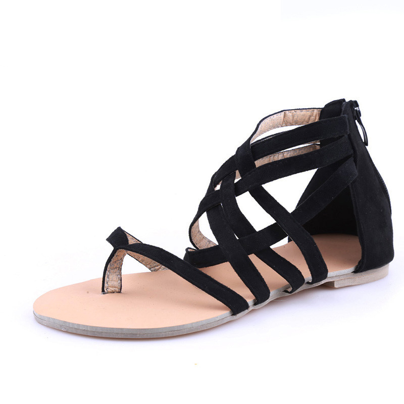 Women-Shoes-Sandals-Comfort-Sandals-Summer-Flip-Flops-Fashion-High-Quality-Cross-Strap-Flat-Sandals-Gladiator