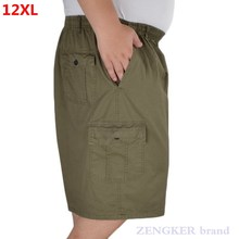 Middle-aged elderly men's summer plus size loose casual shorts 9XL 8XL 10XL 11XL 12XL extra large cotton shorts thin section dad