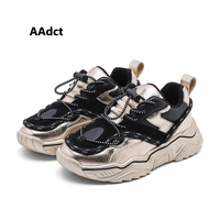 AAdct children casual shoes 2019 new girls shoes running sports kids shoes for boys sneakers cotton inside Mirror surface