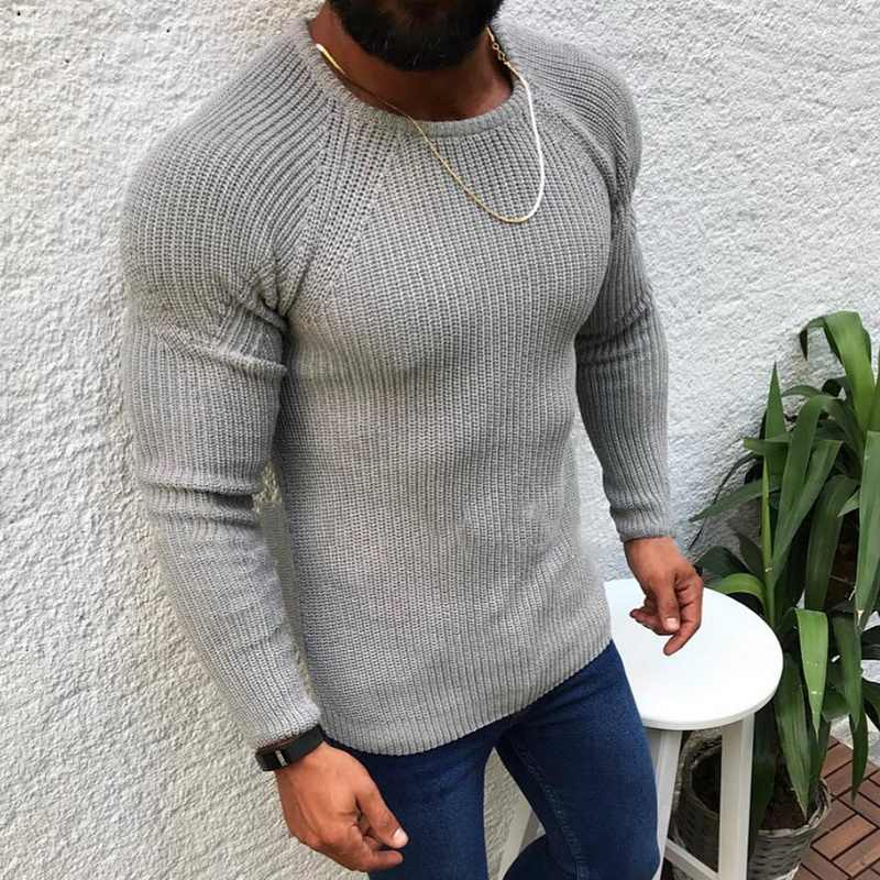 Litthing Autumn Cotton Sweater Pull Men Pullover Casual Jumper Male Brand Knitted Korean Style Clothes Plus Size Men Sweater