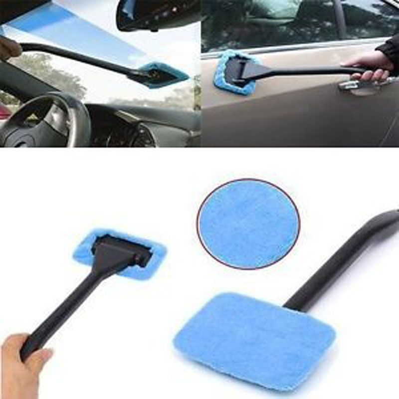 1pcs Microfiber Windshield Easy Clean Car Wiper Cleaner Glass Window Tool Brush