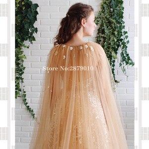 Image 4 - Elegant V Neck A Line Evening Dress Slit Floor Length Turkish Cape Prom Dress Robe De Soiree Aibye Vestido de festa 2020 Dubai