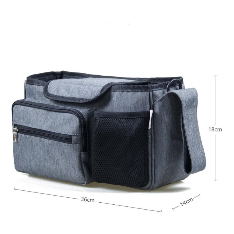 Image 5 - Baby Stroller Bag Diaper Bags Nappy Stroller Organizer Mom Travel Hanging Carriage Pram Buggy Cart Bottle Bag Stroller Accessori-in Diaper Bags from Mother & Kids