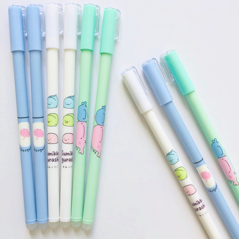 3 Pcs/lot Kawaii 0.38mm Cute Sumikko Gurashi Gel Pen School Office Supply Gift Stationery Papelaria Escolar