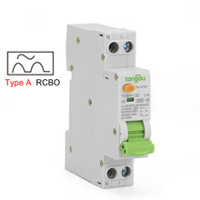 Type A 6KA 18mm RCBO 16A 10mA 30mA 100mA Residual Current Circuit Breaker with Over Current and Leakage Protection Differential