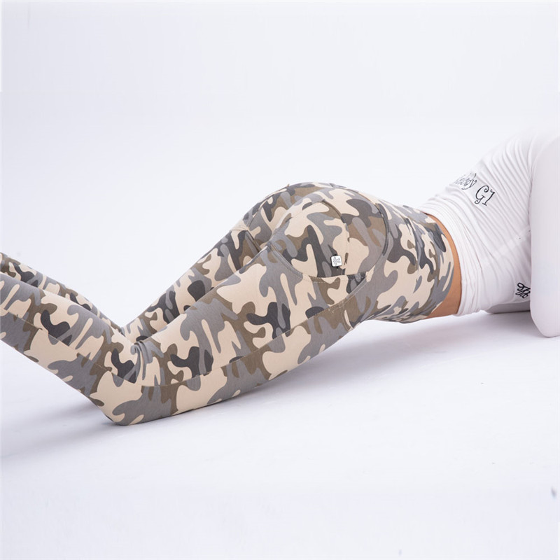 Four Ways Stretchable Melody Camo Workout Leggings Army Pants Women Camouflage Clothes High Waisted Compression Leggings