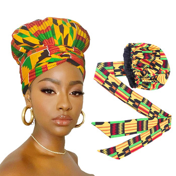 VeryYu Big Size Hair Cover African Print Satin Bonnet Fashion  VerYYu