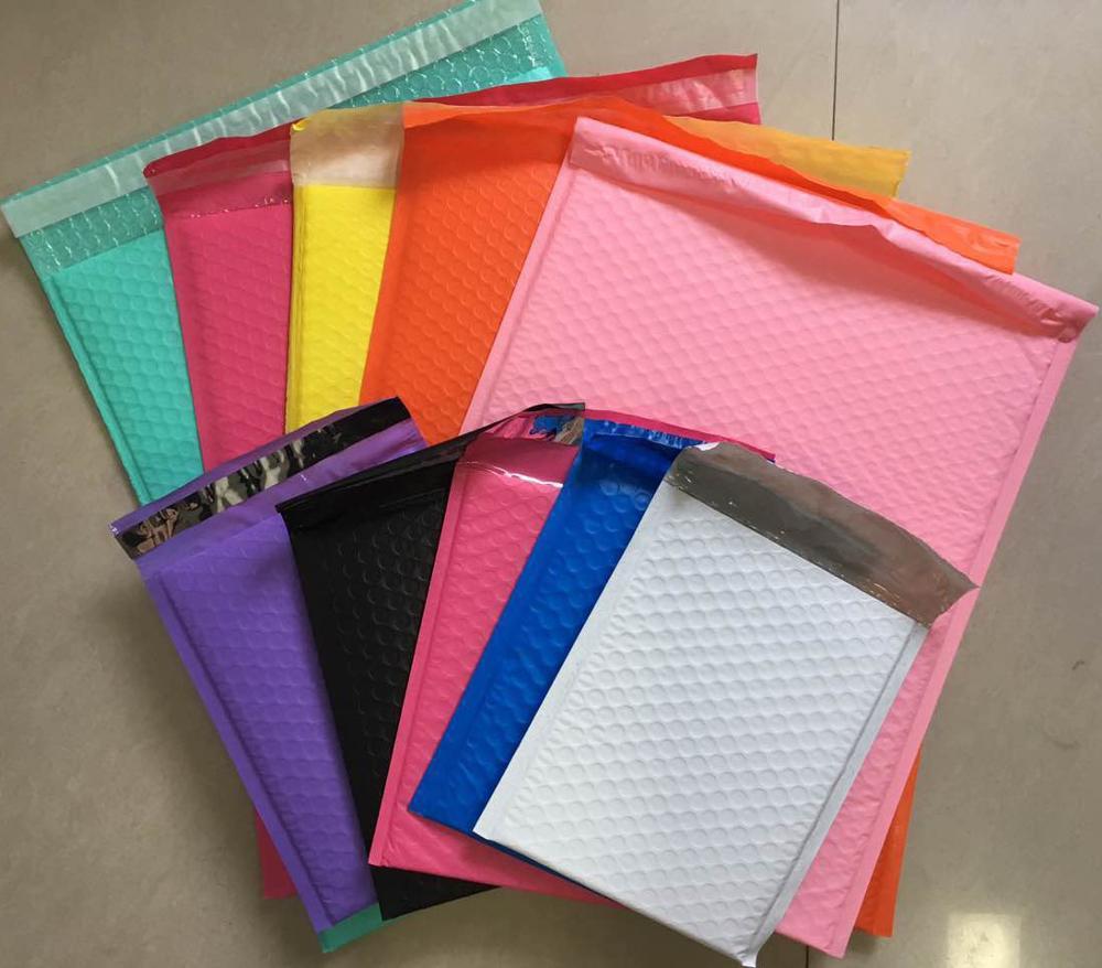 10PCS Packaging Envelope Light Pink Poly Bubble Mailer Padded Envelope Self Seal Mailing Bag Bubble Envelope Shipping Envelope