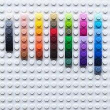 Jouet éducatif en plastique, blocs de construction pour enfants, accessoire en briques 1x1, plaque de 45 couleurs, bricolage artistique pour enfants, 3000 pièces/lot