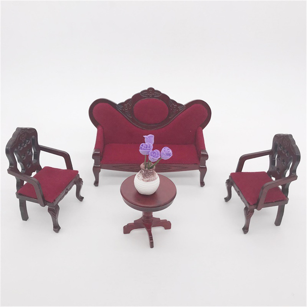 HIINST 2020 HOT Dollhouse Furniture Mini Sofa Set Miniature Living Room Kids Pretend Play Toy Dolls Decoration Simulation TOYS