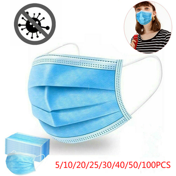 3 Layers Mask Dust Protection Mouth Masks Disposable Face Masks Elastic Ear Loop Disposable Dust Filter Safety Mask Cover 50pcs 100pcs disposable mask mouth mask non woven three layer mouth mask elastic ear loop disposable dust filter safety mask