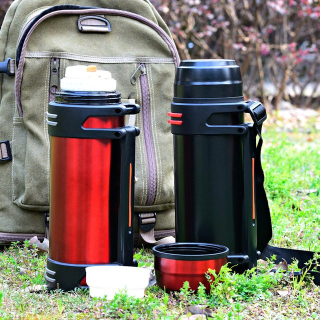 2L/3L Large Capacity Double-Wall Stainless Steel Thermos Vacuum Insulated Cup Bottle For Water Drinkware Outdoor Sports Flask 4