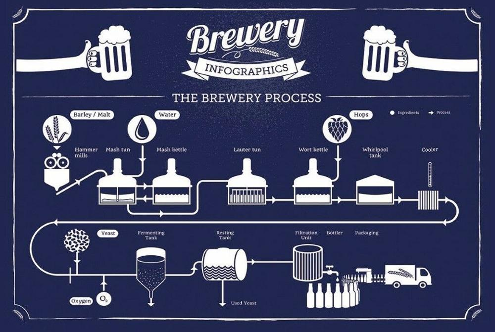 Brewery Infographic paintings canvas Prints Wall Art For Living Room Bedroom Decor image