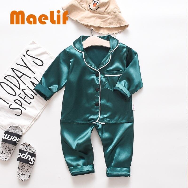 2020 New Children's Autumn Pajamas Explosion Bear Suit Korean Style Leisure Tops Comfortable Cute Pajamas Sets Fashion 1