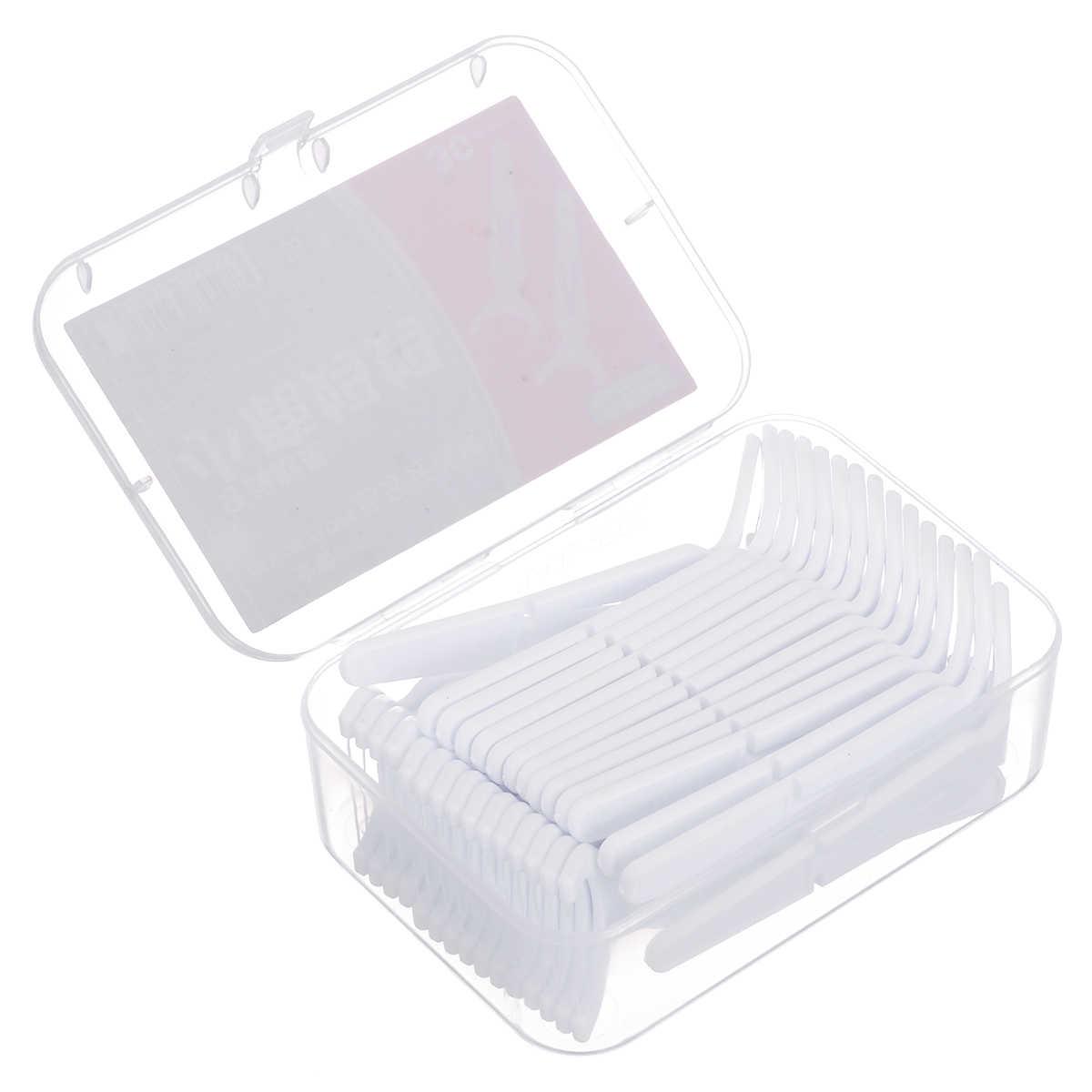 30 sztuk/pudło plastikowe nici dentystyczne Stick drut nylonowy przenośne pielęgnacja zębów Cleaner czyszczenie zębów narzędzia zestaw do higiena jamy ustnej