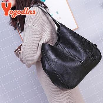 Yogodlns Vintage Women Hand Bag Designers Luxury Handbags Women Shoulder Bags Female Top-handle Bags Fashion Brand Handbags 2