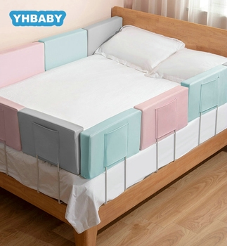 Baby Safety Gate Crib Rail Security Fencing Baby Bed Fence Home Kid Playpen 2M Large Bed General Soft Bed Guardrail