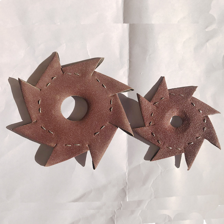 Manufacturers Direct Selling Octagonal Sandpaper Ba Ban Sha Wood Sculpture Root Carving Gap Polishing Tool Octagonal Abrasive Ba