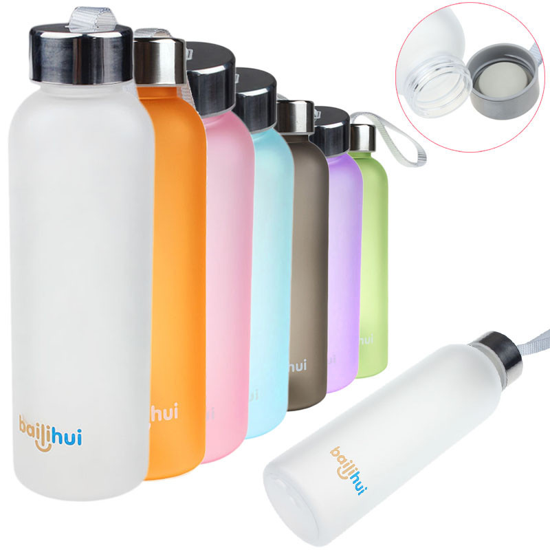 New Leak Tight Fruit Juice thermos bottle gourde Sport Portable Travel Bottle Water Cup 600ML my bottle-in Water Bottles from Home & Garden on AliExpress