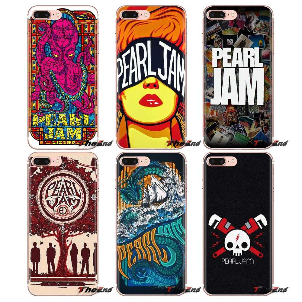 Trasparente Morbido Custodie Coperture Pearl Jam PJ milwaukee Rock Per iPod Touch di Apple iPhone 4 4S 5 5S SE 5C 6 6S 7 8 X XR XS Plus. MAX