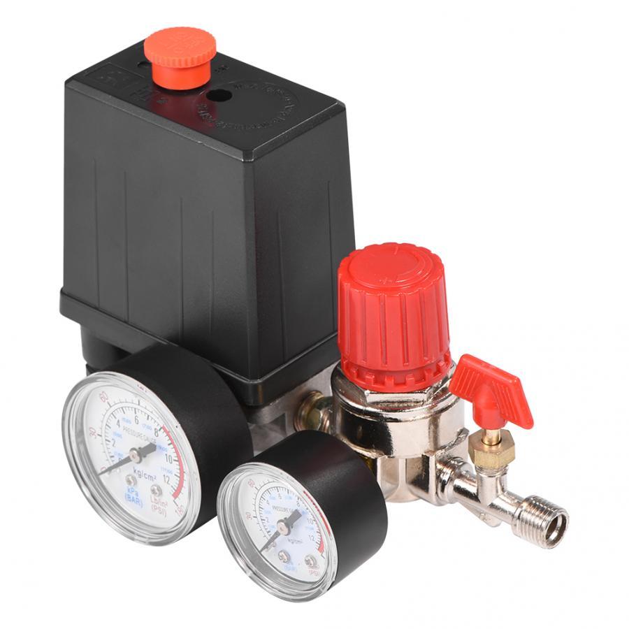 8 Juego de accesorios de v/álvula Interruptor de v/álvula de presi/ón del compresor de aire 4 Interruptor de control de presi/ón del compresor de aire con medidores reguladores de presi/ón G1 2-G1