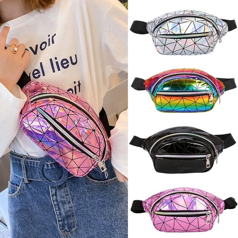 NoEnName-Null Fashion Women Girls Waist Fanny Pack Belt Bag Pouch Travel Hip Bum Bag Chest Crossbody Shoulder Purse