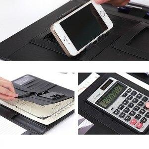 Image 3 - Uchwyt na telefon A4 Folder biznesowy menedżer kalkulator konferencyjny organizer do dokumentów układ Carpetas szkolne materiały biurowe