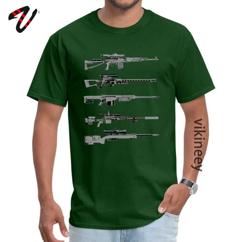 Mannen Korte Mouw Sniper Rifles T-shirts Justice Tops Shirt Retro Justice O Hals T-shirts Groothandel