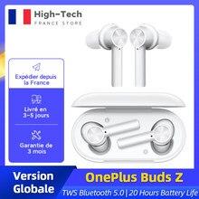OnePlus bourgeons Z écouteur sans fil Version mondiale TWS Bluetooth 5.0 IP55 20 heures d'autonomie pour OnePlus 8T Nord 8 Pro N10
