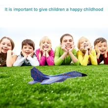 43.6CM EPP Foam Aircraft Hand Throwing Plane Flying Fighter Launch Fly Airplane Kids Fun Puzzle Model Toy Gift for