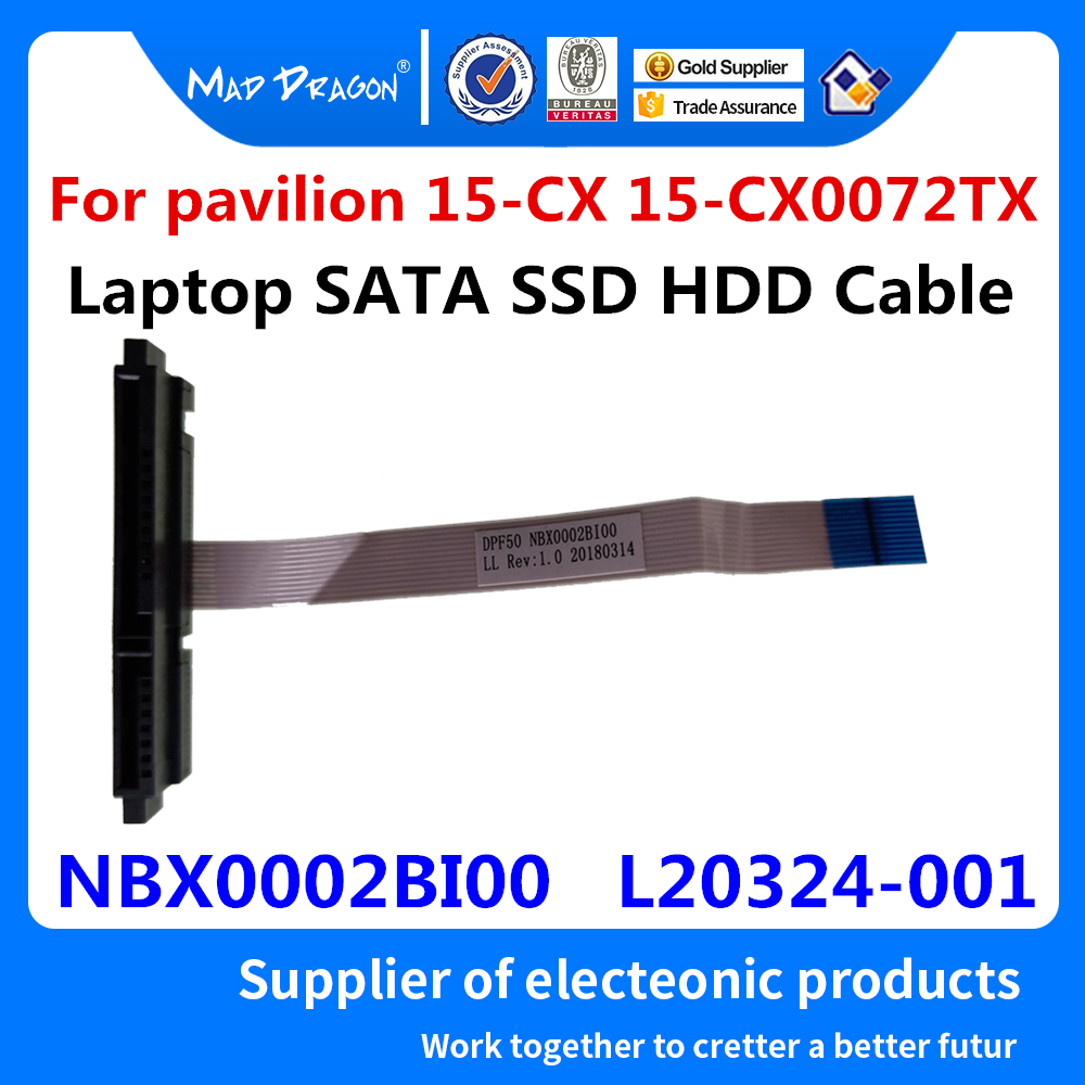 Laptop SSD HDD Cable SATA Hard Drive Port Cable For HP Pavilion 15-CX 15-CX0072TX 15-CX0075TX 15-CX0071TX NBX0002BI00 L20324-001