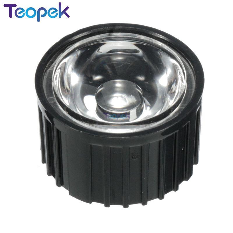 10pcs 20mm LED LENS Reflector Collimator 5 15 30 45 60 90 120 Degree Angle Black / White Holder For 1W 3W 5W High Power LED Bead