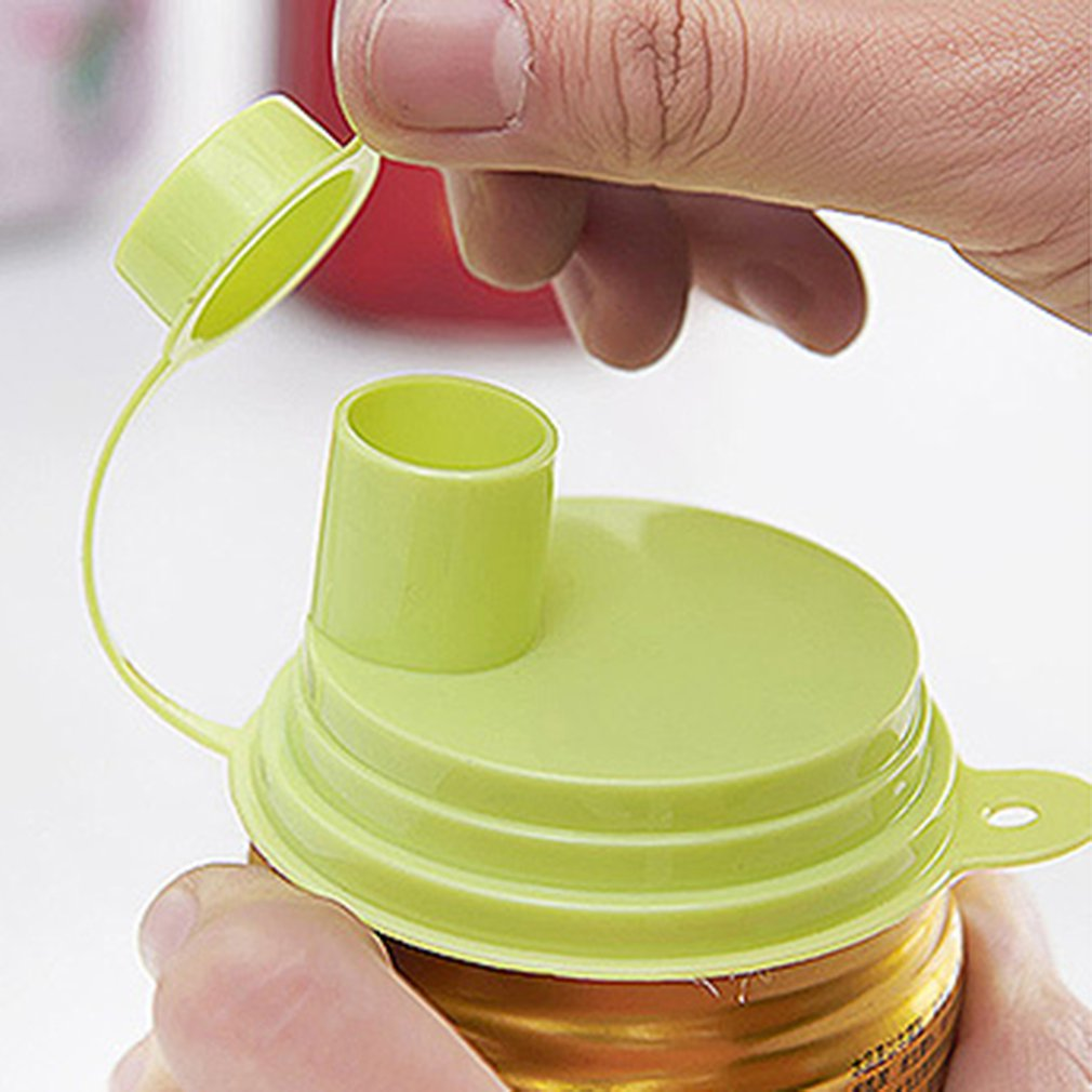 Easy Pull Can Drink Leak Proof Sealing Cover Portable Plastic Sealing Device Fresh Keeping Bottle Cap Stopper