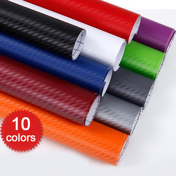 127*30CM/50CM/60CM 3D Carbon Fiber PVC Car Wrap Sheet Roll Film Car Stickers Decals Motorcycle Car Styling Exterior Accessories image