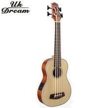 Укулеле бас 30 дюймов 4 струны деревянные инструменты профессиональная