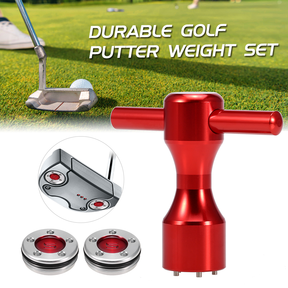 2 Pcs 10g/15g/20g/25g/30g/35g/40g Golf Weights Wrench Tool Golf Accessories Club Head For Scotty Cameron Putters  Red Putter